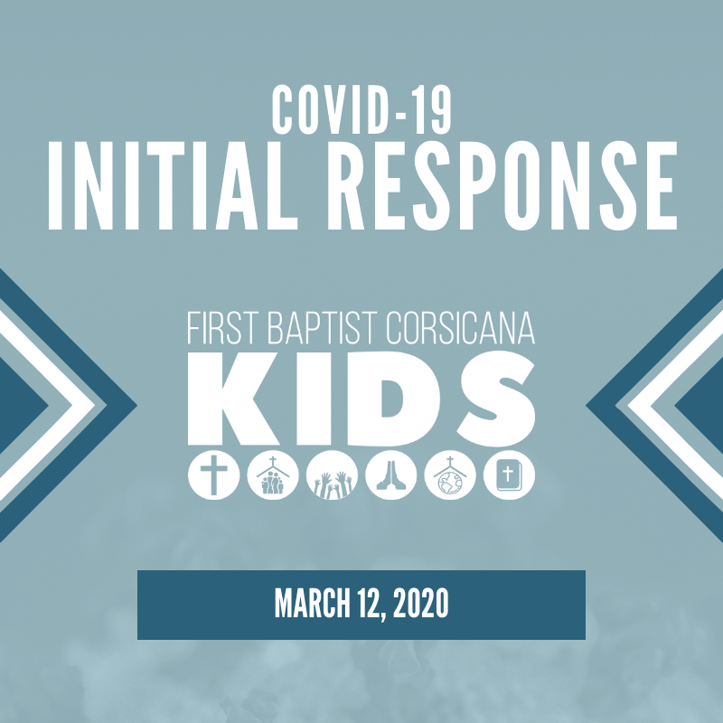 Kids Ministry Initial Response to COVID-19