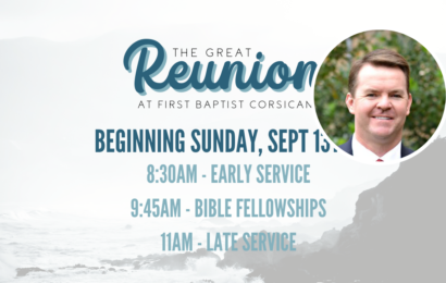 Pastor's Update: The Great Reunion